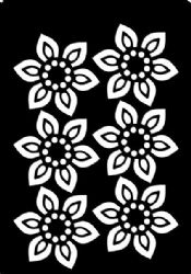 Creative Expressions Mini Stencil - Beaded Flower
